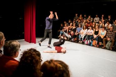 theater op de markt. ALEXANDER VANTOURNHOUT en BAUKE LIEVENS met de voorstelling RAPHAëL (EEN GEFORCEERD DUET)